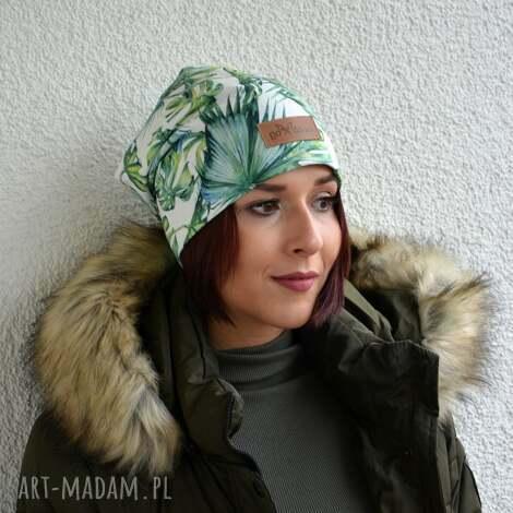 czapki ciepła czapka unisex liście beanie, ciepła, czapka, liście, prezent