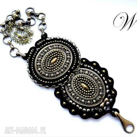naszyjnik sutasz i haft koralikowy wiking - sutasz, haft, koralikowy, naszyjnik, elegancki