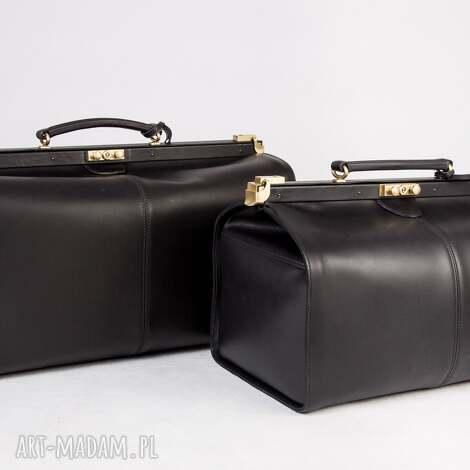 skórzany kufer podróżny/ torba lekarska duża, kufer, torbaskórzana