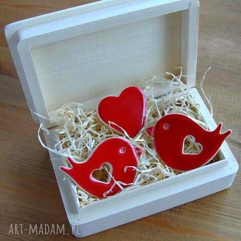 romantyczny kuferek, romantyczne, walentynki, serce, ptaszek, zwierzęta
