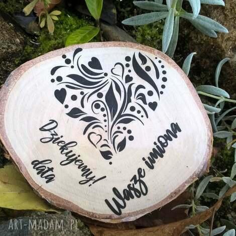 magnes z brzozy - podziękowanie dla gości, prezent, podziękowanie, ślub