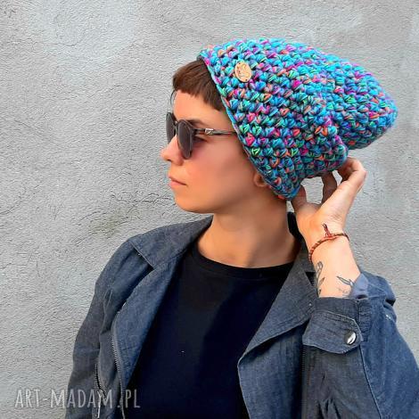 czapka hand made no. 054 beanie, czapka na szydełku, narciarska, miejska