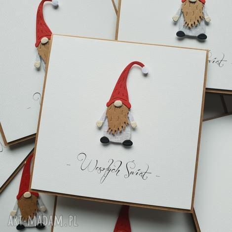 kartka świąteczna - stylowa i wyjątkowa - pan krasnal:), święta