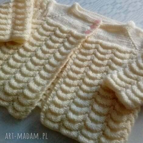 sweterek kremowy, dziecięcy, rozpinany, ubranko