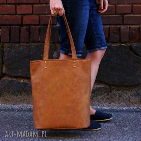 owal vegan rudy - torba torebka vege, shopper