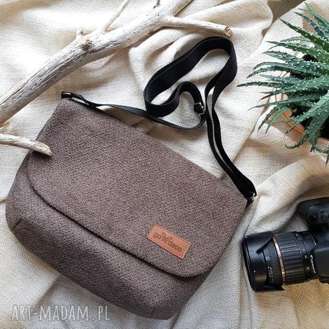 godeco listonoszka torebka szarobrązowa, torebki, mała torebka, listonoszka, a5