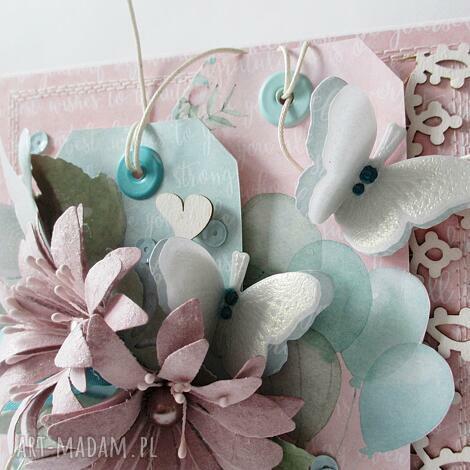 pastelowa kartka w pudełku - życzenia, podziękowania, gratulacje, ślub