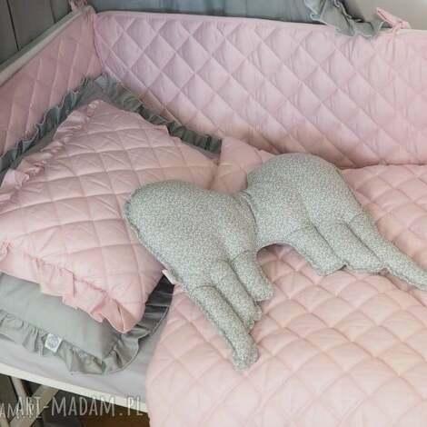 ochraniacz do łóżeczka pikowany pudrowy róż - ochraniacz, ochraniacz