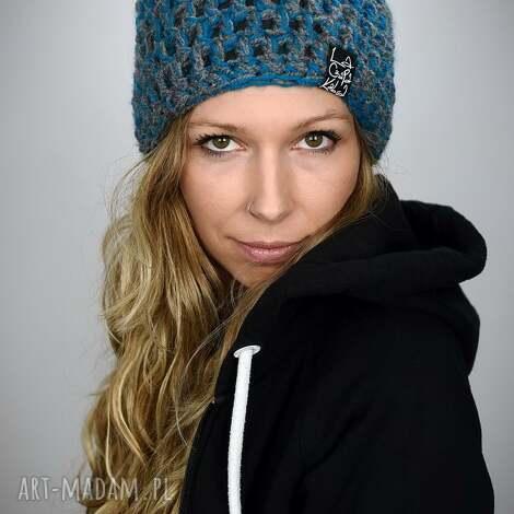 czapka melange 03 melange czapka, melanż, kolorowa na zimę