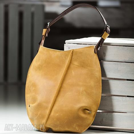 torebka dwukolorowa skórzana, torba na ramię navahoclothing, torebki, skórzana