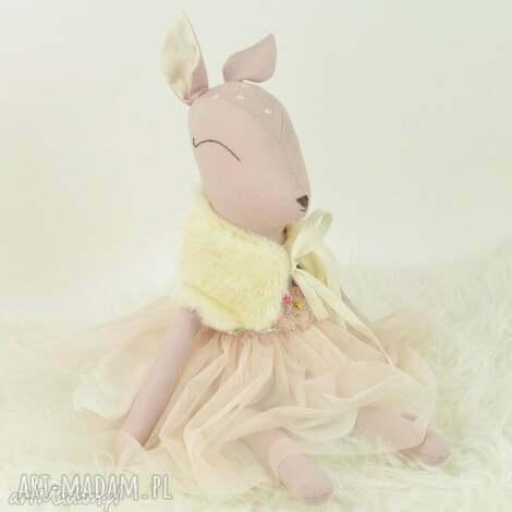 sarenka w tiulowej sukience - sarenka, przytulanka, bambi, lalka, szmacianka, tiulowa