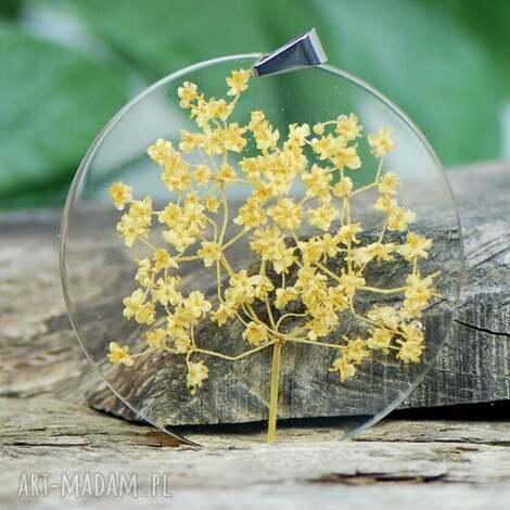 naszyjnik z kwiatami z czarnego bzu z276, biżuteria z roślin, naszyjnik