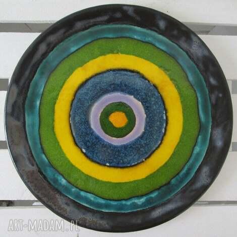 artystyczna patera ceramiczna, talerz, ceramiczny, dekoracyjny, kolorowy