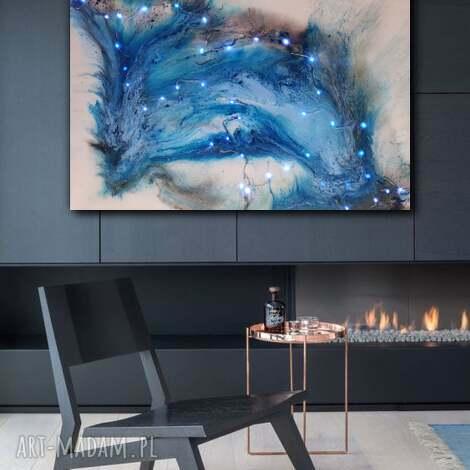 - delfin led obraz z żywicy zatopionymi światełkami, kreatywne obrazy