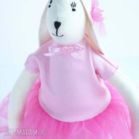 zajĄc w tiulowej sukience - zając, tilda, skandynawski, tiul, dziecko, zabawka