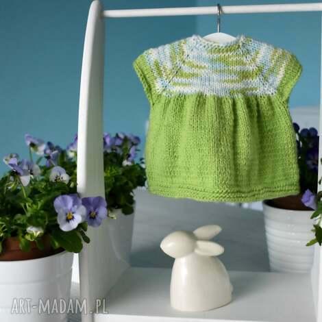 wiosenna sukienka dla lalki, ubranko lalka, waldorfska, szmacianka, dzianinowa
