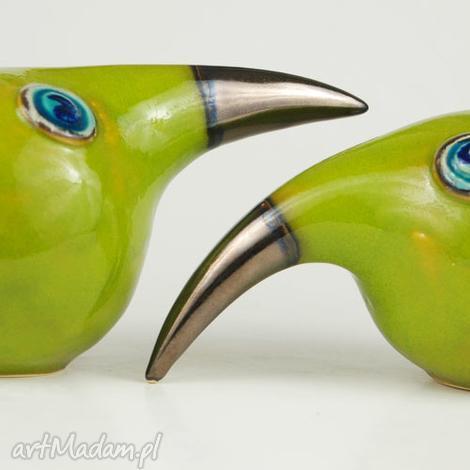 ceramika wielki ptak patrzy, ceramika, figurki, zwierzęta, ptaki