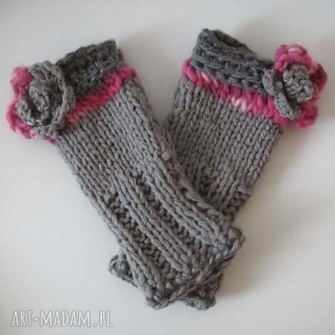 rękawiczki mitenki - rękawiczki, mitenki, włóczkowe, dodatki