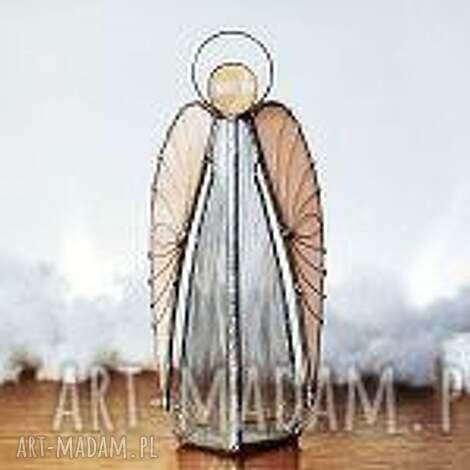 hanielgallery anioł ariel lampion, anioł, witraże, rękodzieło, świecznik