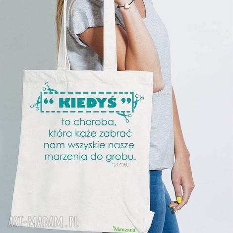 bawełniana torba ekologiczna eko - kiedyś, bawełniana, torba, ekologiczna