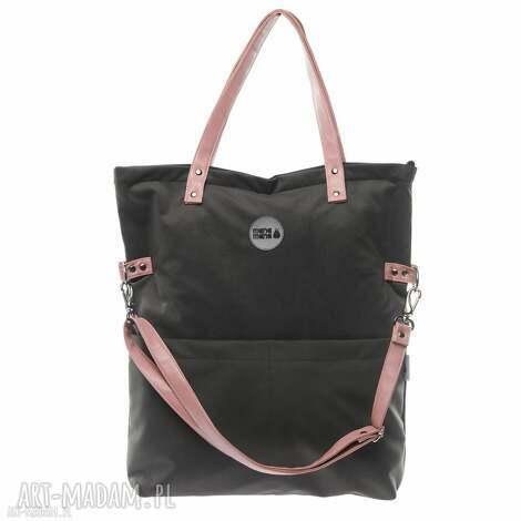 034eaf0b23ffa na ramię torba damska zamsz mana cube grafit pudrowy rÓŻ powder pink