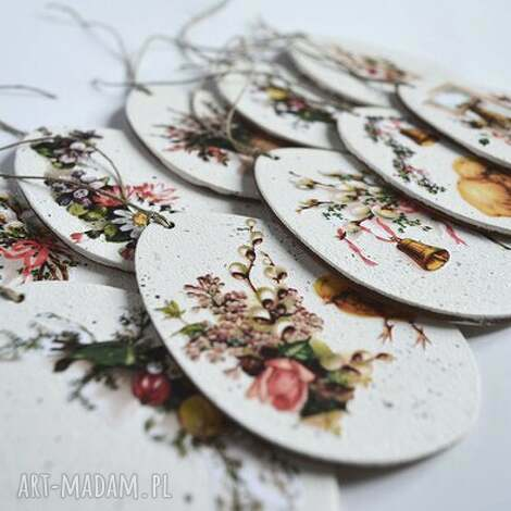 dekoracje dekoracja wielkanocna-jajka pisanki komplet 10szt, wielkanoc