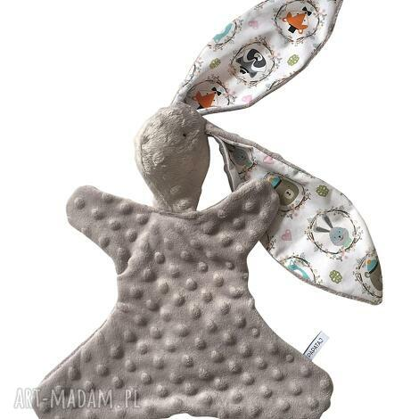 przytulanka króliczek - pluszak, maskotka, przytulanka, niemowle