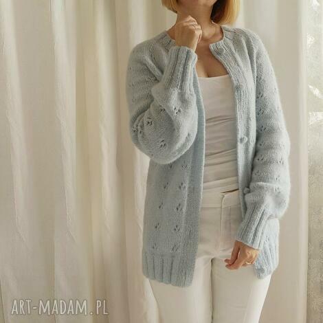 swetry kardigan z ażurowym akcentem, kardigan, ażurowy, na lato, pastelowy