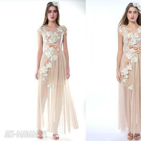 królowa bajka - ręcznie haftowana suknia ślubna, luksusowa, elegancka