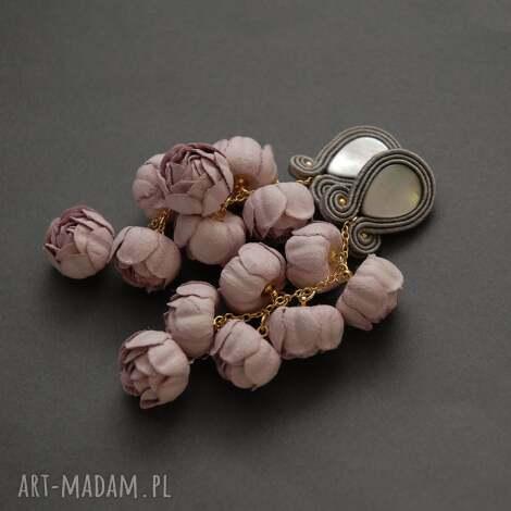 klipsy sutasz z kwiatami, sznurek, wyjściowe, długie, eleganckie, wiszące