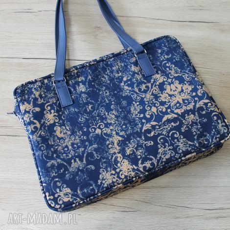 torebki niezwykle torba na laptop - ornament vintage, elegancka, nowoczesna
