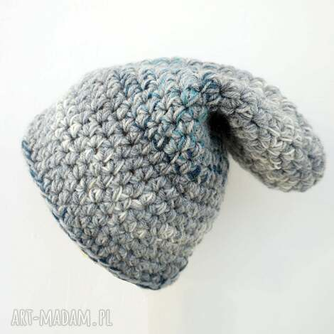 czapka hand made no 024 dziecięca krasnal - ciepła, narciarska, krasnal