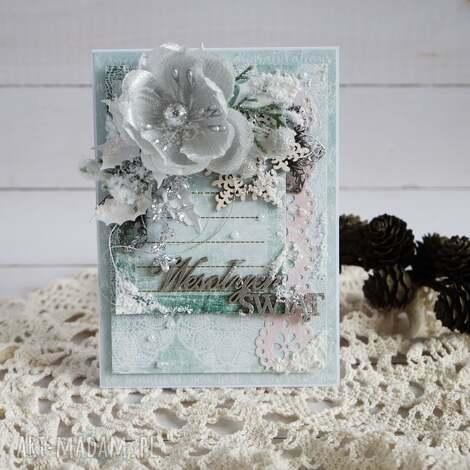 boże narodzenie - w srebrze - kartka-świąteczna, boże-narodzenie