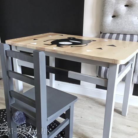stolik i krzesełko dla dzieci - komplet mebelków (dziecięce meble, drewniane)