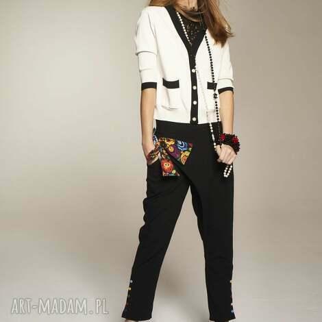 more fashion spodnie natasza 7701, wężane, asymetryczne