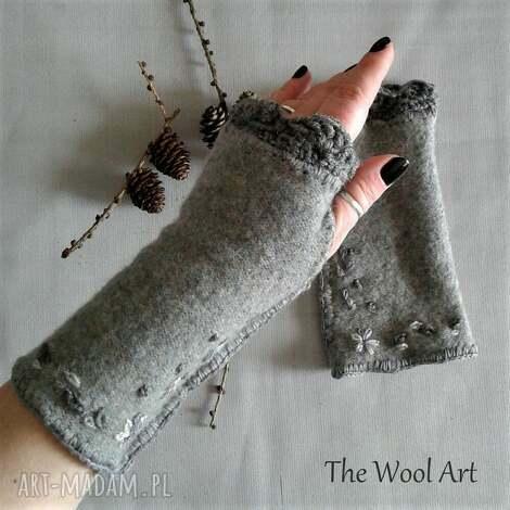 rękawiczki mitenki - mitenki, rękawiczki, prezent, wełniane, ciepłe