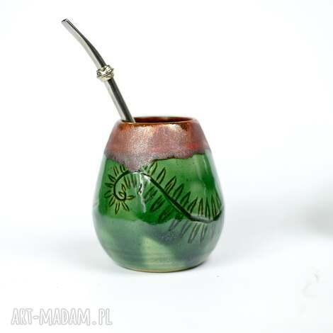 ceramika duże ceramiczne naczynie do yerba mate / matero handmade