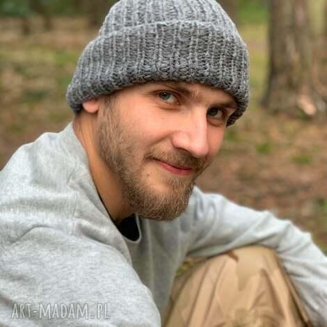The Wool Art: męska wełniana czapka - męska czapka, wełnianaczapka, czapkana drutach