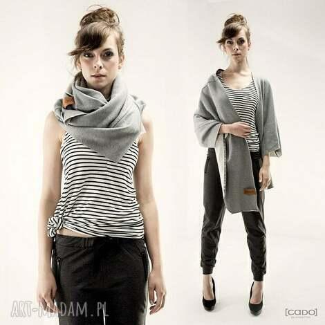 tuba komin szal origami dress z kieszeniami - dresowy, ciepły, wygodny, dzianinowy
