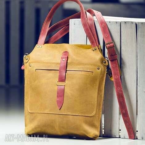 torebka skórzana ręcznie robiona navahoclothing - torba skórzana, torebka na
