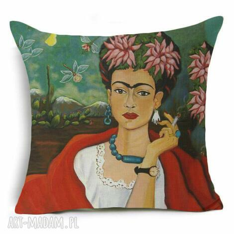 poszewka na poduszkę z frida kahlo, artytska, frida, poduszka, poszewka, kolorowa