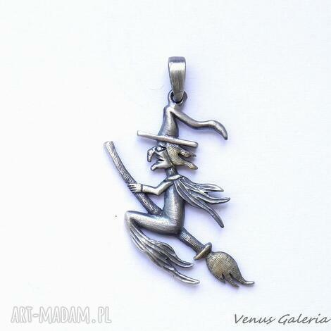 wisiorki wisiorek srebrny - wiedźma mała szara, bizuteria, srebro