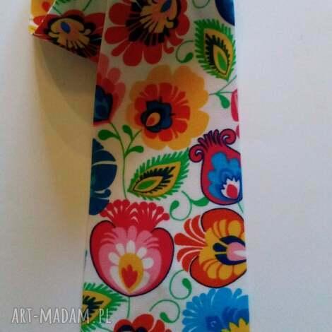 folkdesign krawat folk łowickie wzory, krawat, folk, łowickie