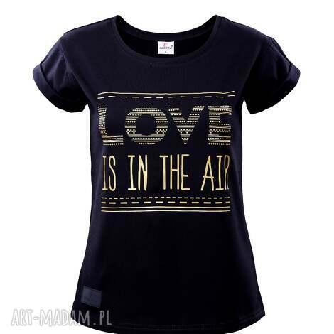 koszulki t-shirt love rozmiar l, koszulka, t shirt, bawełna, nadruk, farbotka