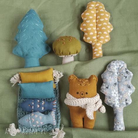 zestaw leśne zwierzątka-niedźwiedź, zabawek, miś, niedźwiedź