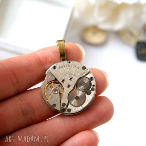 wisior z mechanizmem 2, unisex, werk, mechanizm, industrialny, steampunk, zegarkowy