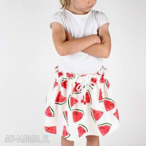 ubranka spódnica w arbuzy, szyte, spódnica, lato, dziewczynka, arbuzy dla dziecka