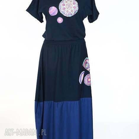 hippie sukienka, maxi, bawelniana, letnia, hippie, zweiwna, kolorowa
