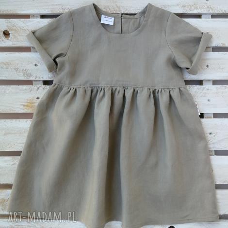 sukienka sunshine, sukienka, len, letnia stylowe dziecko, zwiewna