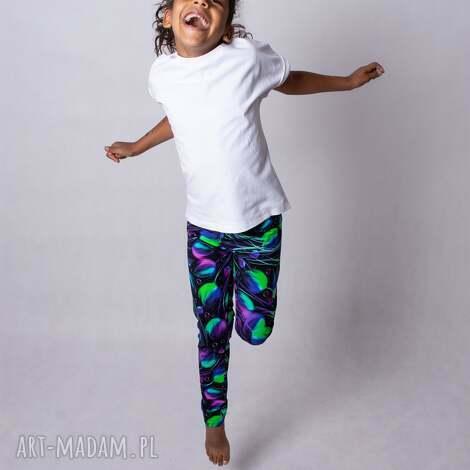 legginsy dziewczęce violet, dla dziecka, dziewczynki